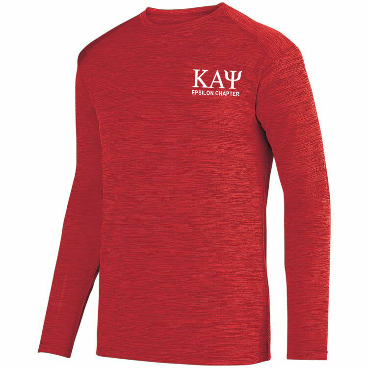 Kappa Alpha Psi- $26.95 World Famous Dry Fit Tonal Long Sleeve Tee