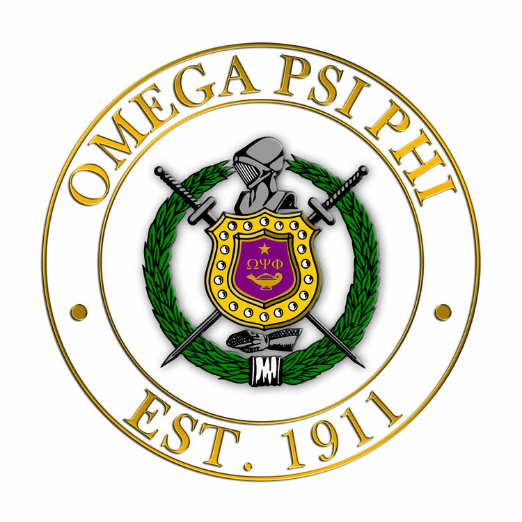 Omega Psi Phi Circle Crest Shield Decal Sale 695 Greek Gear