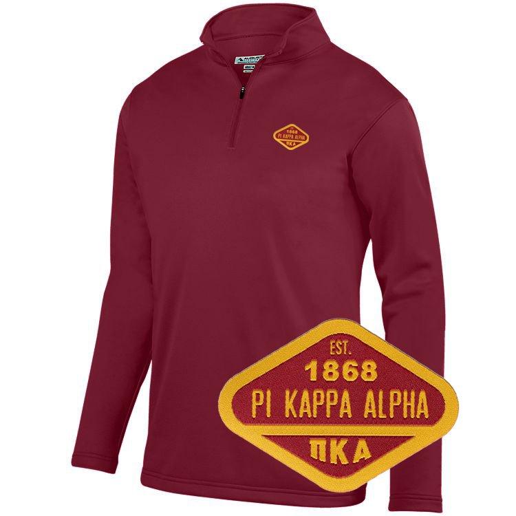 DISCOUNT-Pi Kappa Alpha Woven Emblem Wicking Fleece Pullover