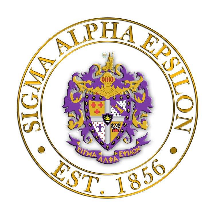 Sigma Alpha Epsilon Circle Crest - Shield Decal