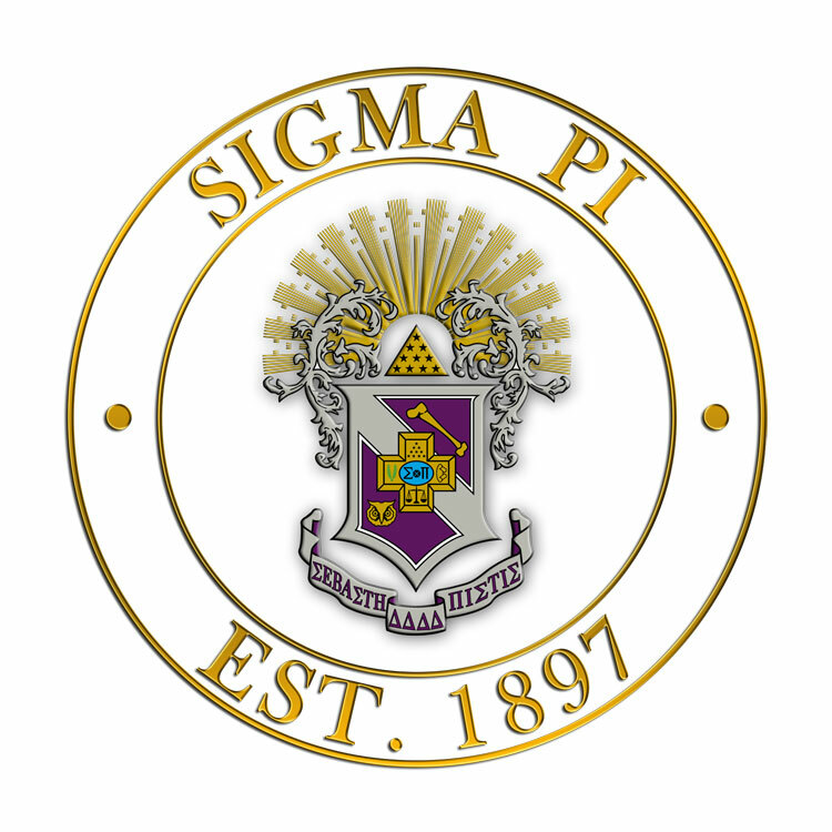Sigma Pi Circle Crest - Shield Decal