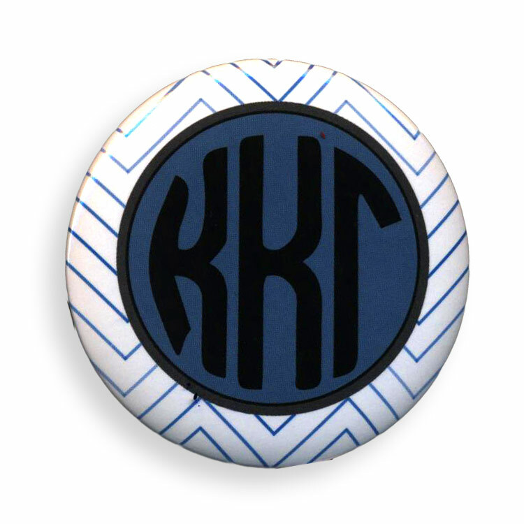 Sorority Chevron Monogram Buttons