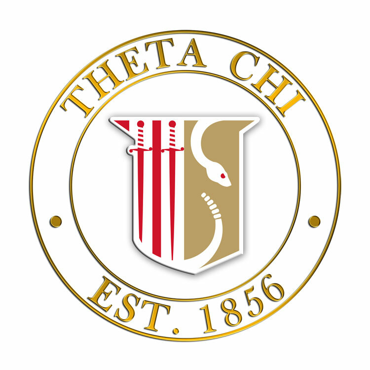 Theta Chi Circle Crest - Shield Decal