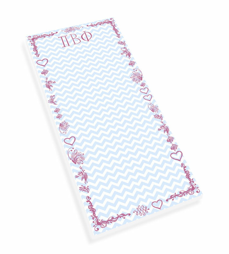Sorority Chevron Long Notepad