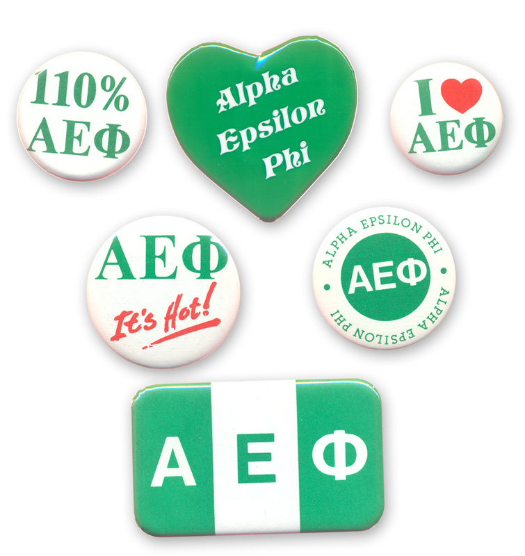 Alpha Epsilon Phi Sorority Buttons 6-Pack