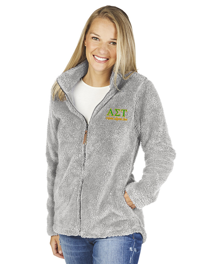 Alpha Sigma Tau Newport Full Zip Fleece Jacket