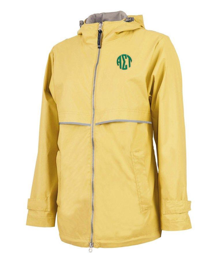 Alpha Sigma Tau New Englander Circle Monogram Rain Coat