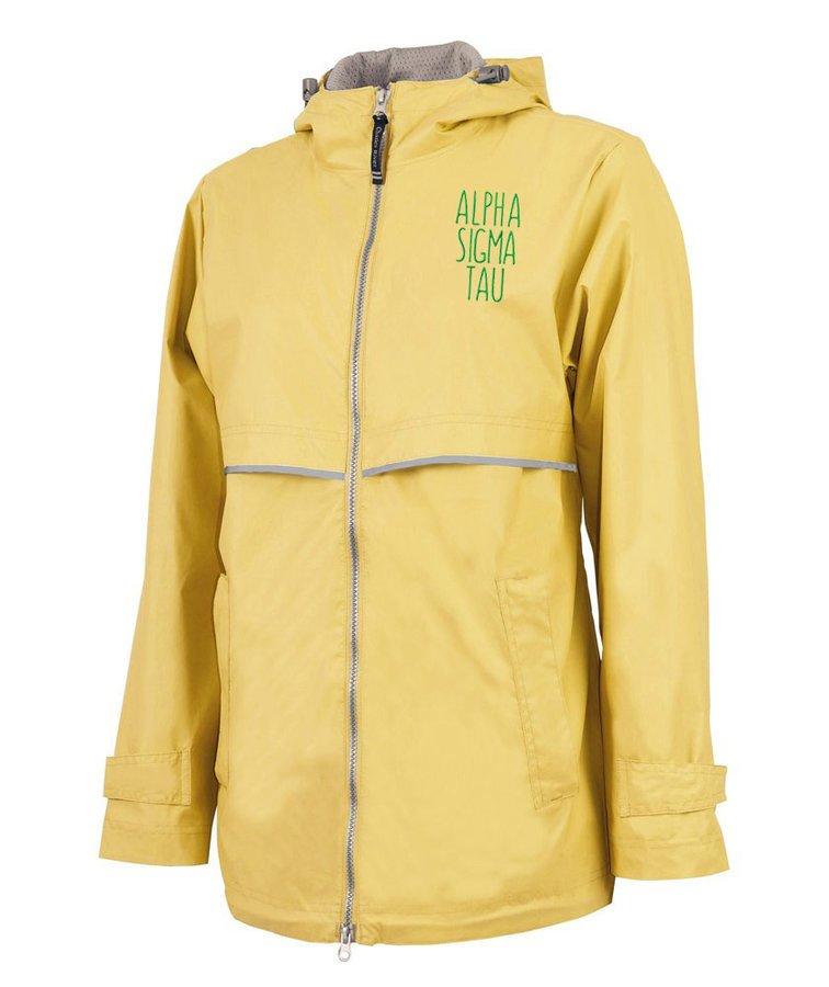 Alpha Sigma Tau New Englander Nickname Rain Coat