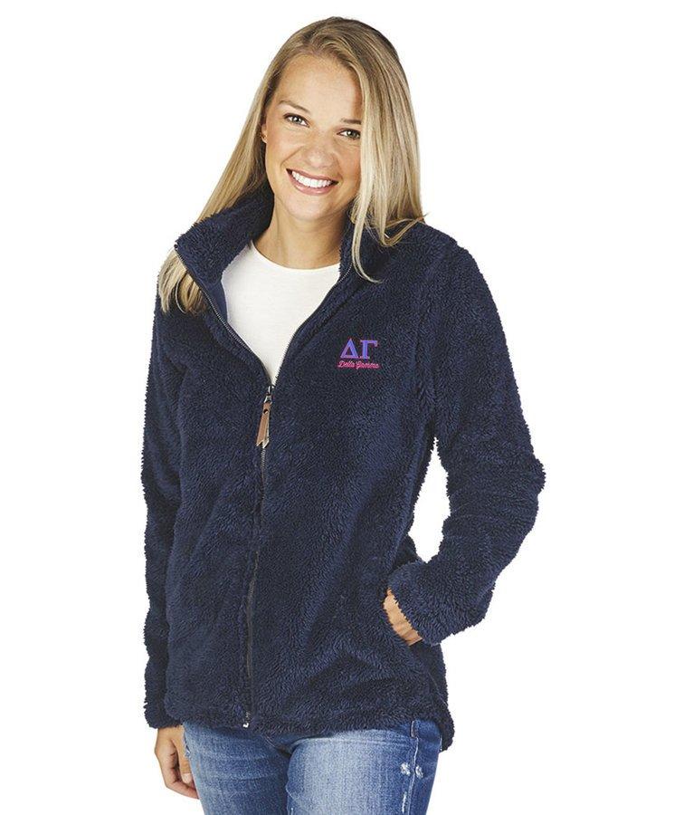 Delta Gamma Newport Full Zip Fleece Jacket
