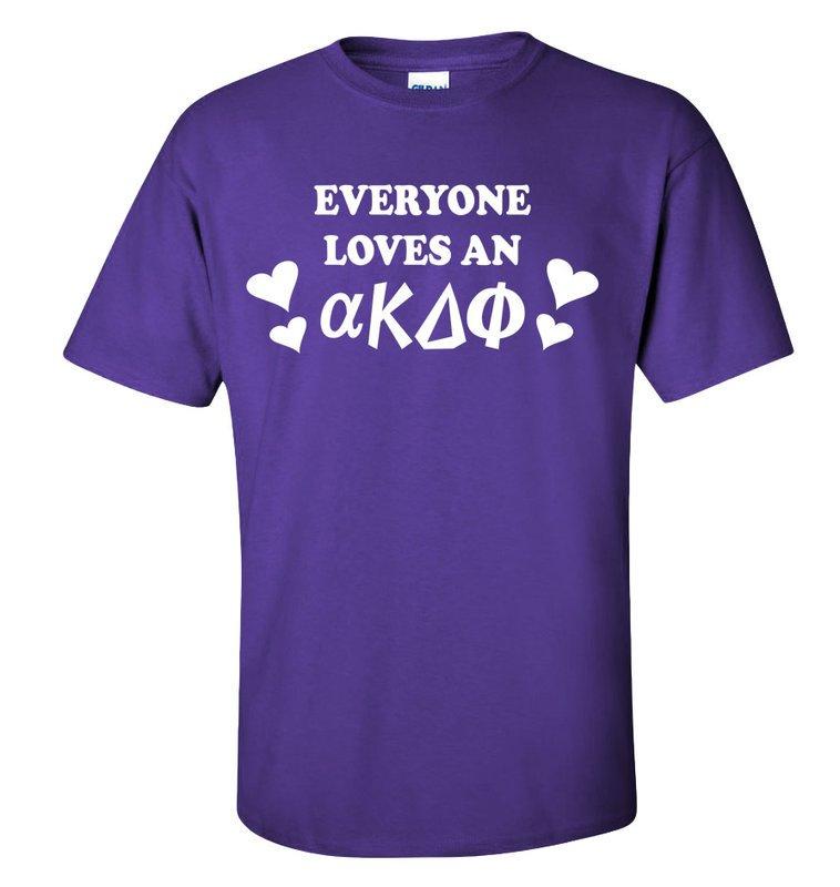 alpha Kappa Delta Phi Everyone Loves T-Shirt