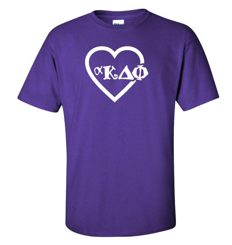 alpha Kappa Delta Phi Heart T-Shirt