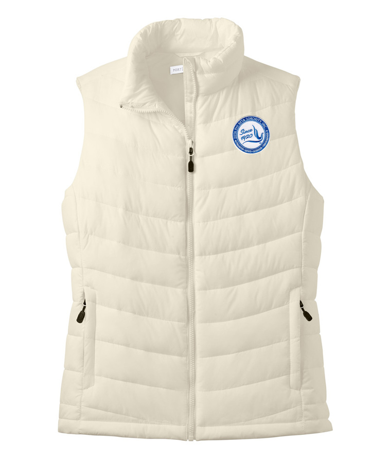 DISCOUNT-Zeta Phi Beta Since 1920 Patch Ladies Mission Puffy Vest
