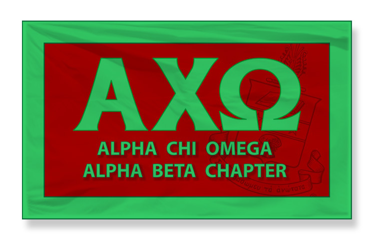 Alpha Chi Omega 3 x 5 Giant Flag