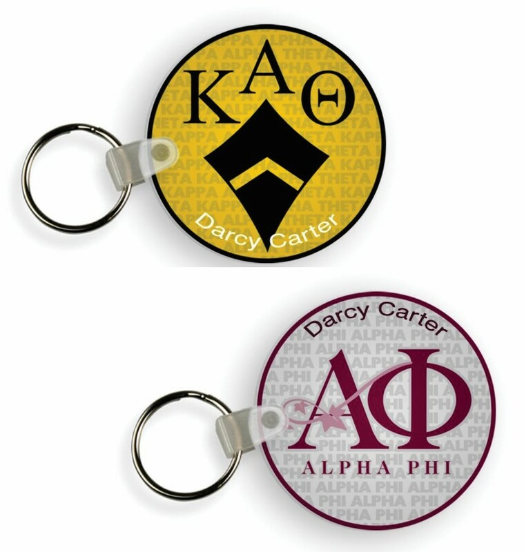 Sorority Custom Mascot Keychain