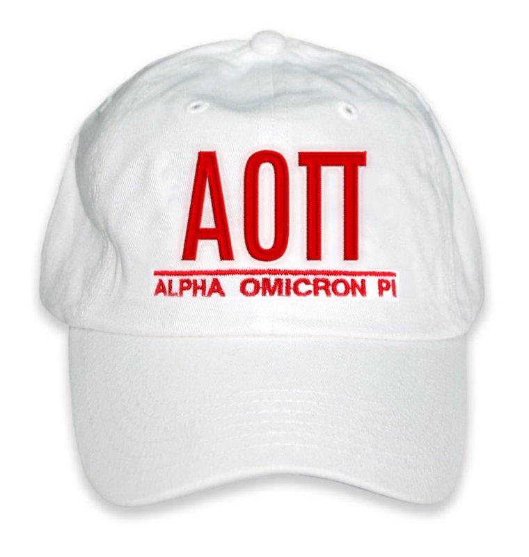 Alpha Omicron Pi World Famous Line Hat