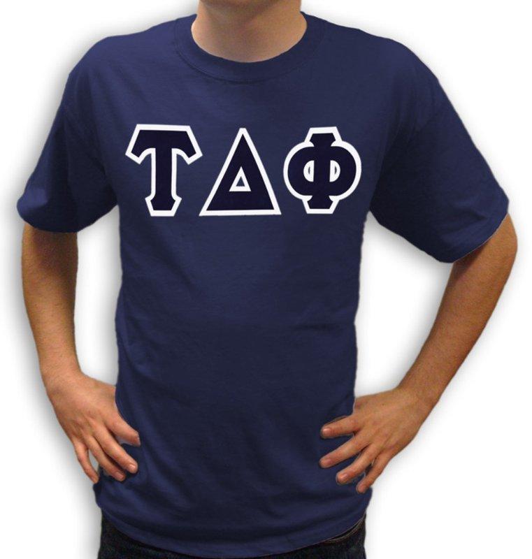 Tau Delta Phi Sewn Lettered T-Shirt
