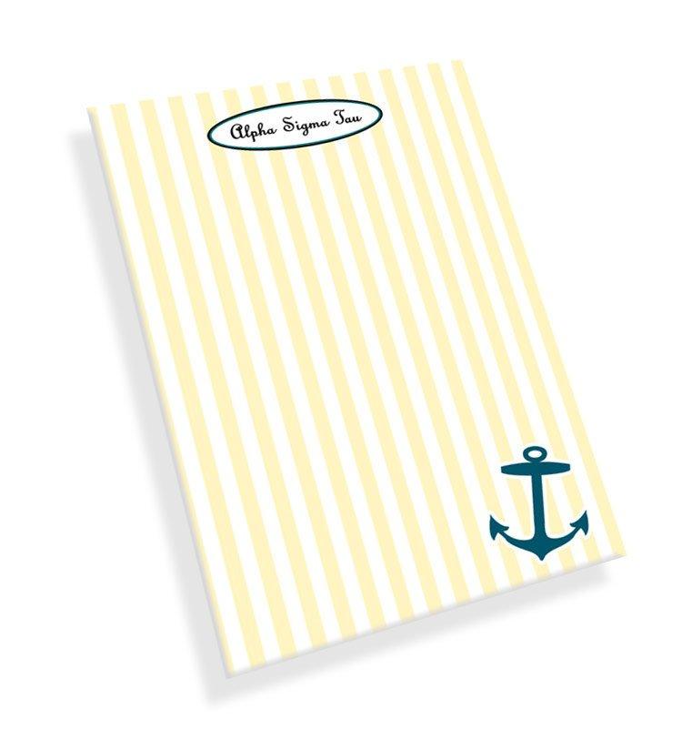 Alpha Sigma Tau Mascot Notepad