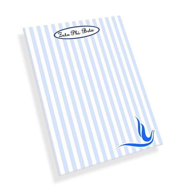 Zeta Phi Beta Mascot Notepad