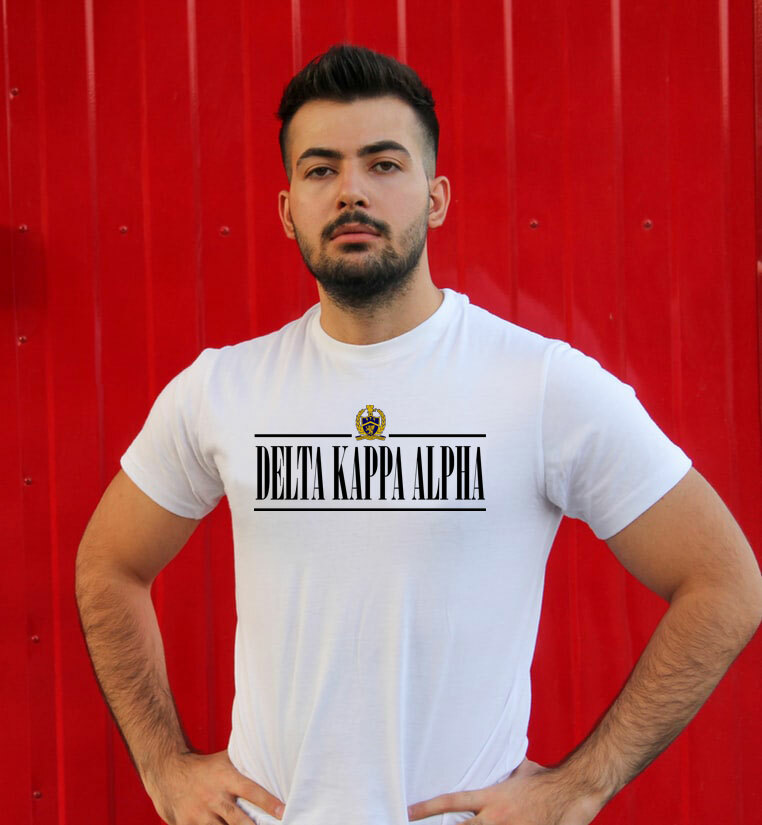 Delta Kappa Alpha Line Crest Tee