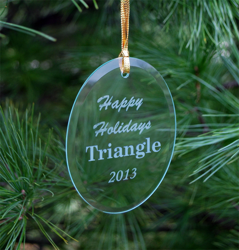 Triangle Fraternity Holiday Glass Ornaments - Triangle Fraternity Holiday Glass Ornaments SALE $14.95. - Greek Gear®