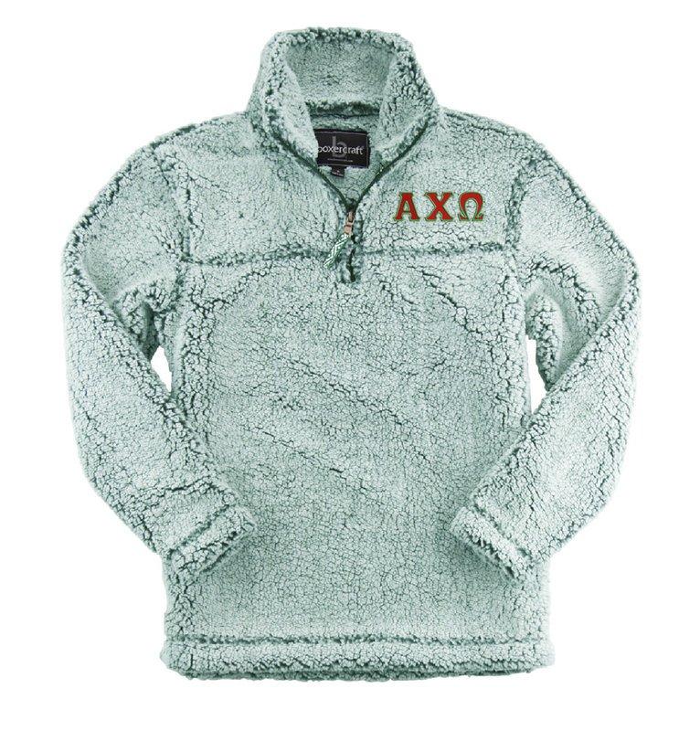 Alpha Chi Omega Sherpa Quarter Zip Pullover