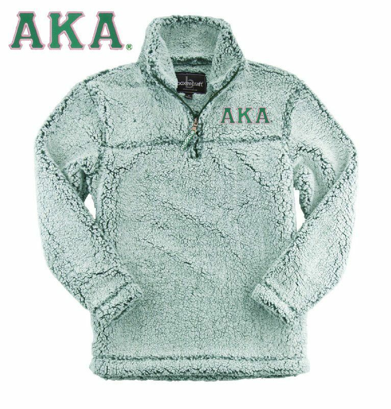 Alpha Kappa Alpha Sherpa Quarter Zip Pullover