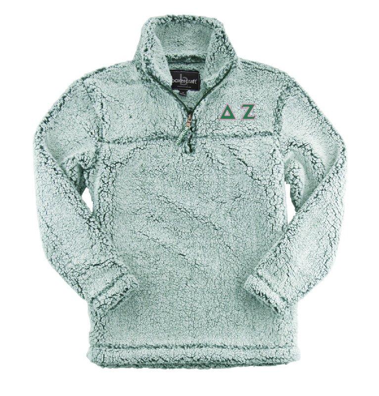 Delta Zeta Sherpa Quarter Zip Pullover