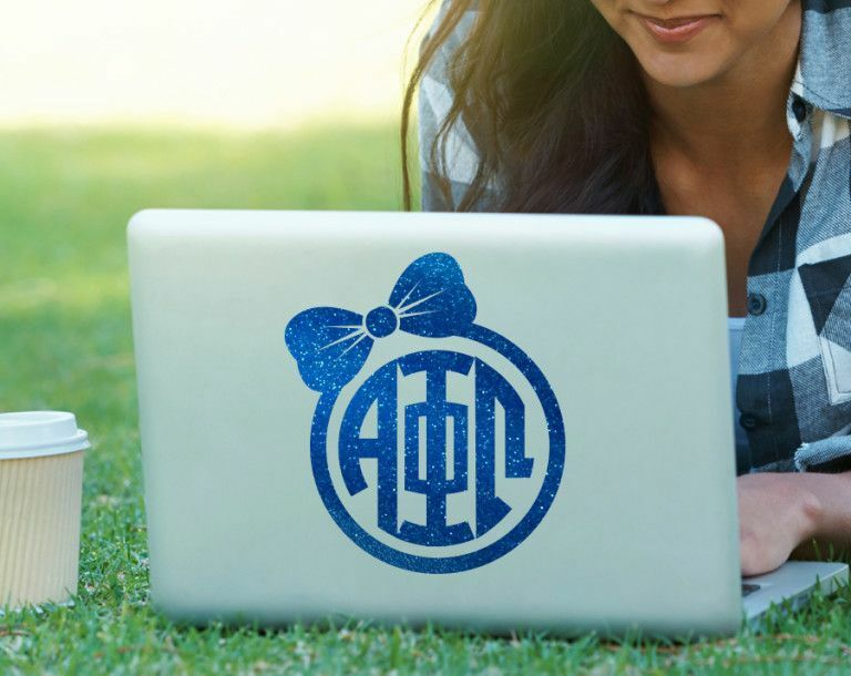 Alpha Phi Omega Bow Decal