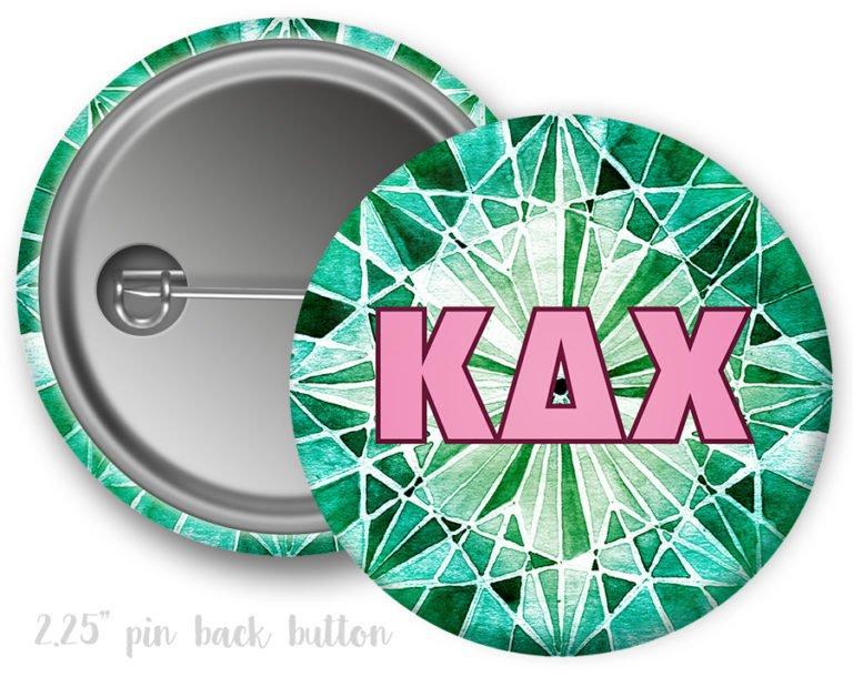 Kappa Delta Chi Emerald Button