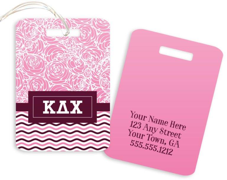 Kappa Delta Chi Geometric Luggage Tag