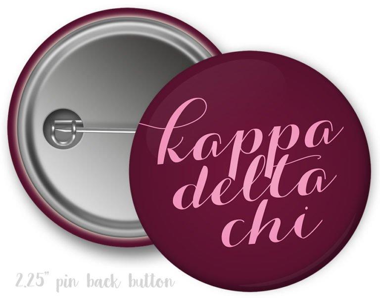 Kappa Delta Chi Script Button