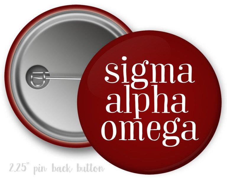 Sigma Alpha Omega Simple Text Button