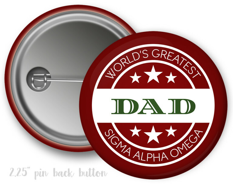 Sigma Alpha Omega World's Greatest Dad Button