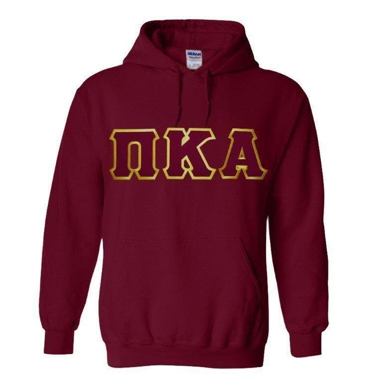 DISCOUNT Pi Kappa Alpha Lettered Hooded Sweatshirt