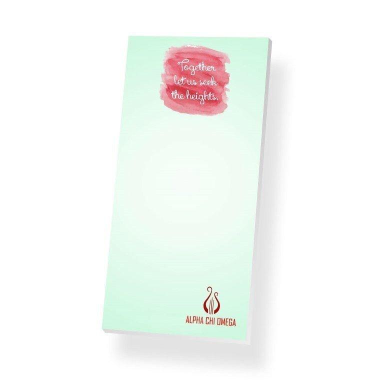 Alpha Chi Omega Long Notepad