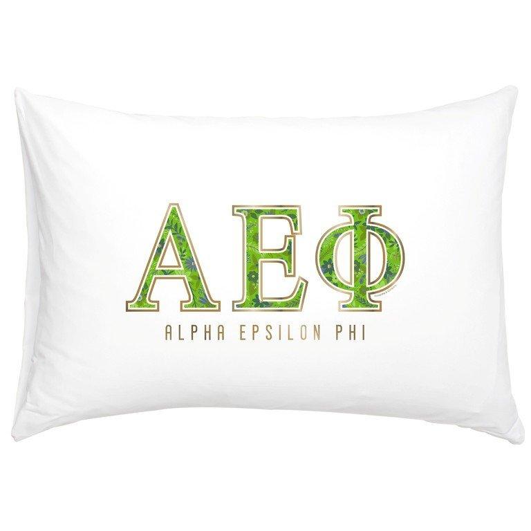 Alpha Epsilon Phi Cotton Knit Pillowcase