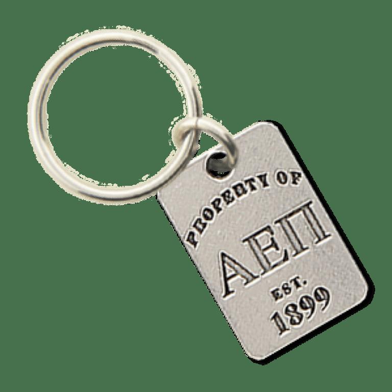 Alpha Epsilon Pi Property of Tag Keychain