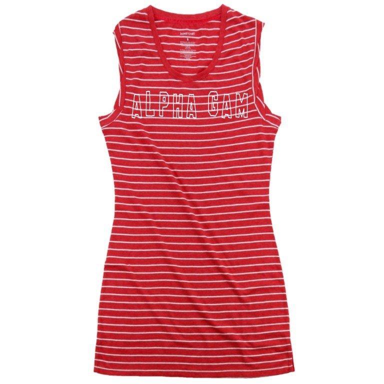 Alpha Gamma Delta Striped Tee Dress