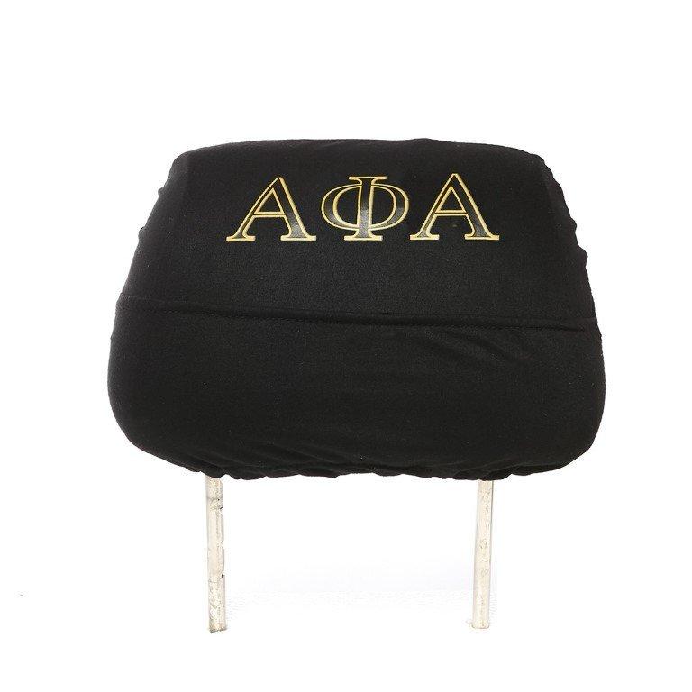 Alpha Phi Alpha Black Car Seat Headrest Cover