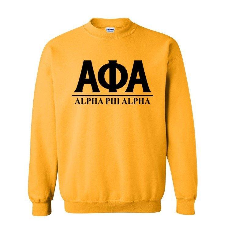 Alpha Phi Alpha Message  Crewneck Sweatshirts
