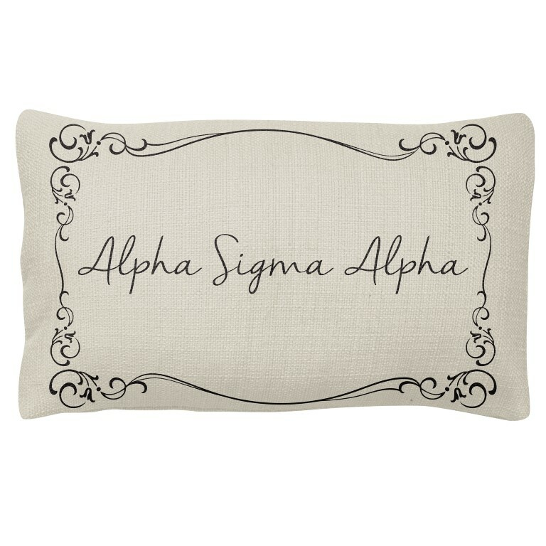 Alpha Sigma Alpha Sorority Lumbar Pillows