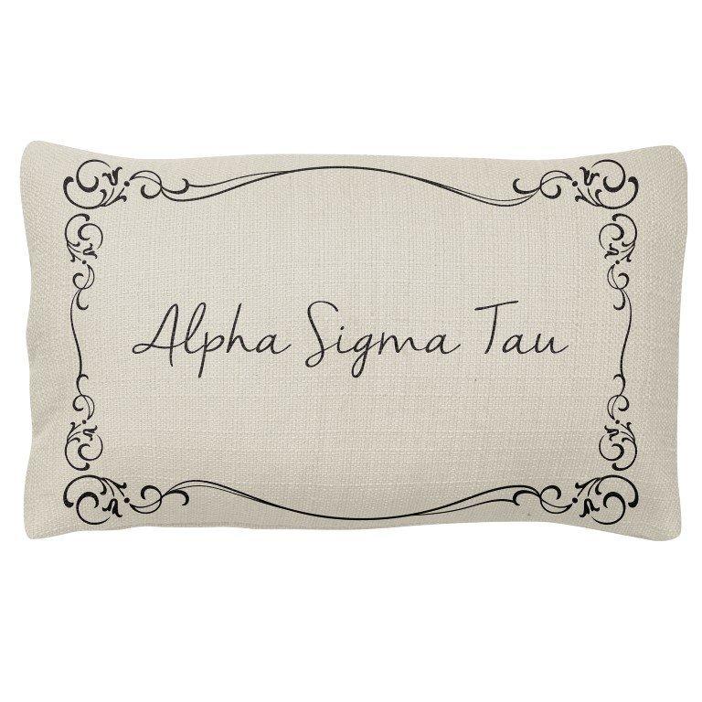 Alpha Sigma Tau Sorority Lumbar Pillows