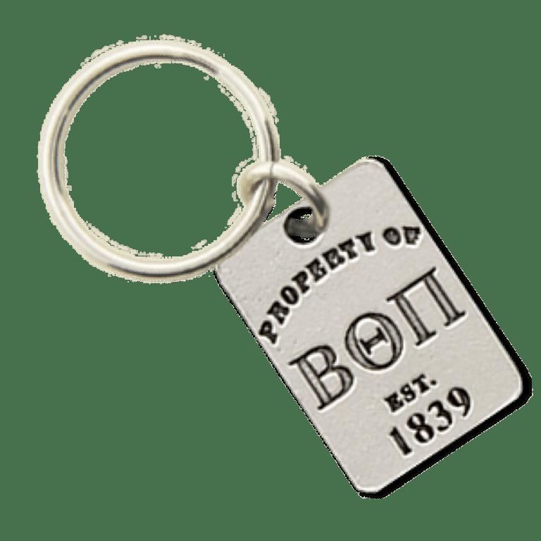 Beta Theta Pi Property of Tag Keychain