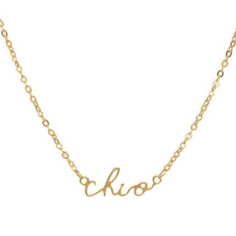 Chi Omega Sorority Script Necklace