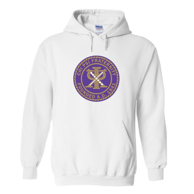 Chi Psi Seal Hooded Sweatshirt