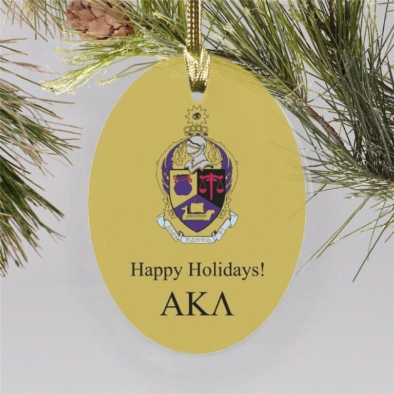 Alpha Kappa Psi Crest Oval Ornament