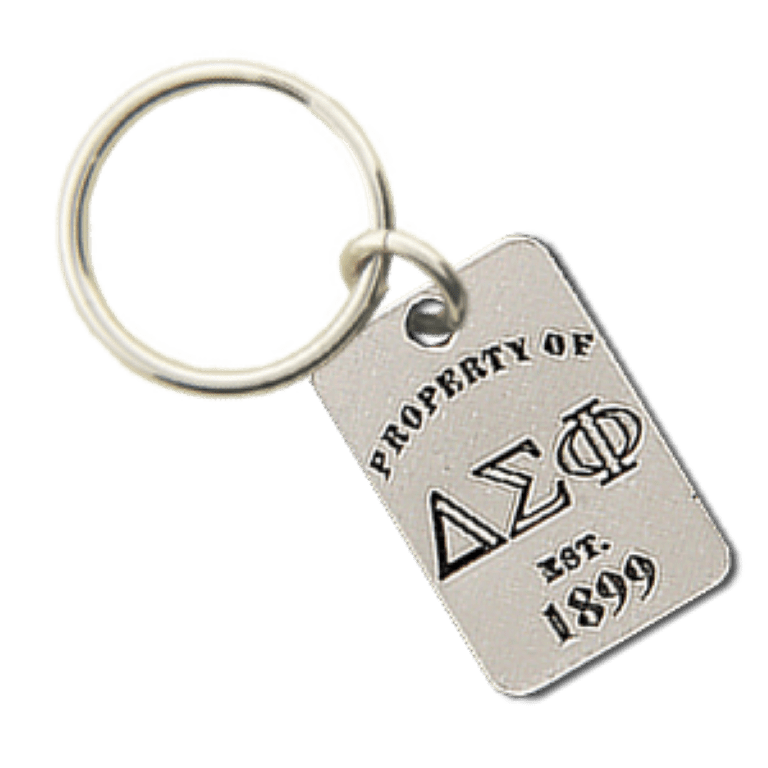 Delta Sigma Phi Property of Tag Keychain