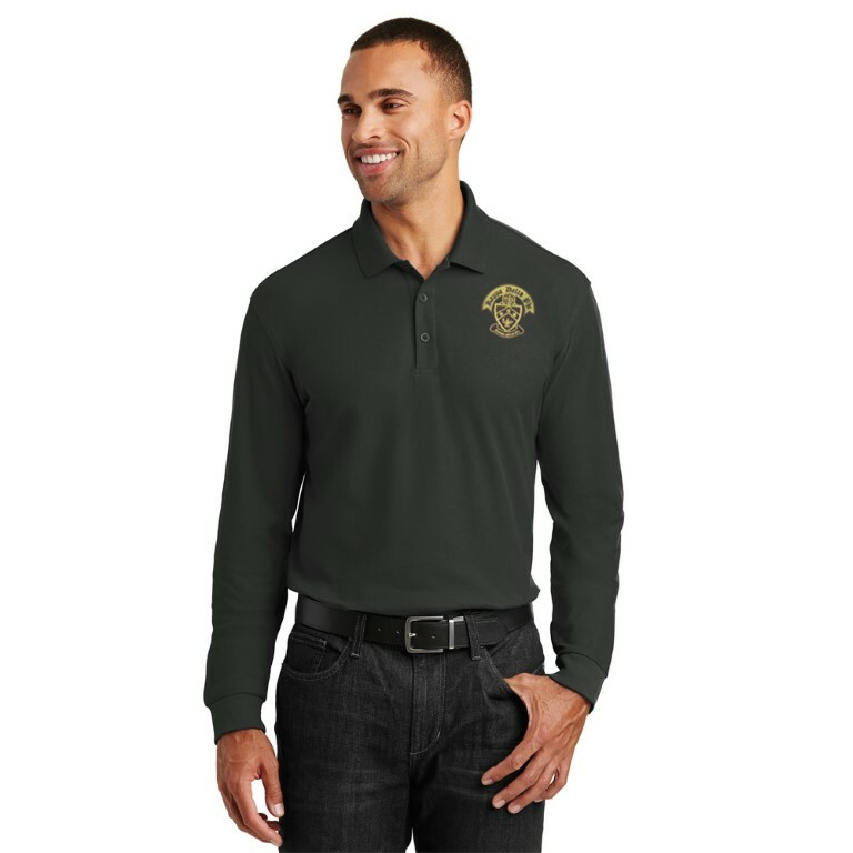 DISCOUNT-Kappa Delta Phi Crest - Shield Emblem Long Sleeve Polo