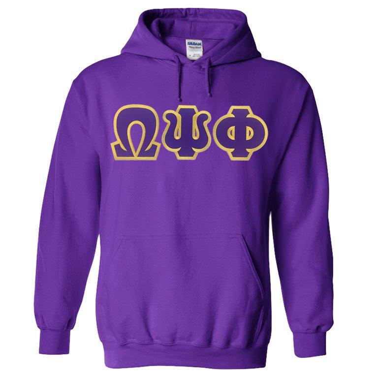Omega Psi Phi Sewn Lettered Sweatshirts