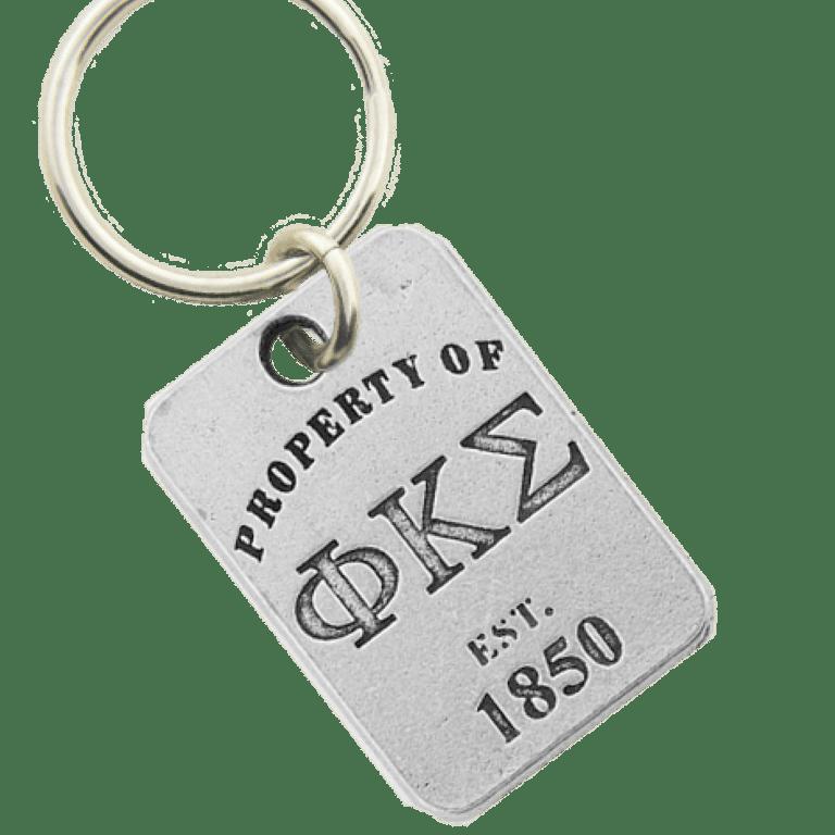 Phi Kappa Sigma Property of Tag Keychain
